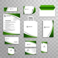 Abstrakt klassisk företagsidentitet affärs brevpapper mall vektor