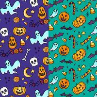 Gulligt Halloween Mönster