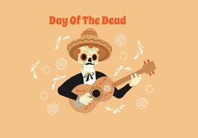 Dag av de döda vektorillustrationen vektor