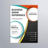 Elegant affärskortmall broschyrdesign vektor