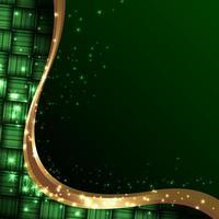 islamischer ketupat Hintergrund mit Gold funkelnd vektor