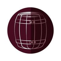 Wein Holzfass vektor