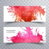 abstrakt färg pensel färgstark akvarellhuvud set bakgrund vektor