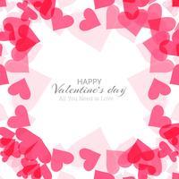 Valentinsgrußtagesbunter Herzkartenhintergrund vektor