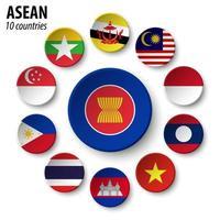 Asean Vereinigung südostasiatischer Nationen und Mitgliedschaft vektor