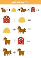 Zusatz für Kinder mit Cartoon-Nutztieren vektor