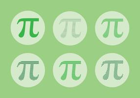Anpassad Pi Symbol Vector