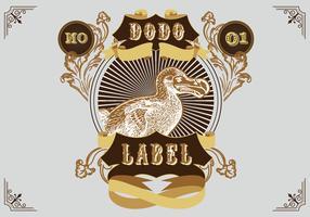 Lustige Dodo-Vogel-marschierende Abenteuer-Vektor-flache Illustration