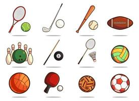 Satz Sportausrüstung vektor