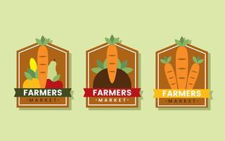 bönder marknadslogotyp