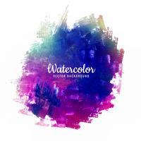 Abstrakt penselslag för design och färgstarka akvarellborstar vektor
