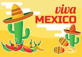 viva mexico vektor illustration