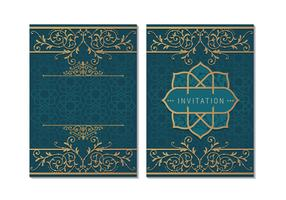 Grußkarte oder Einladung islamischen Stil vektor