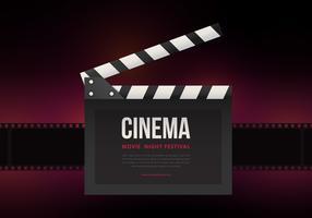 Film Nacht Party Poster oder Web Template vektor
