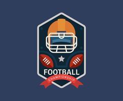 Amerikanska fotbollsmedlemmar vektor