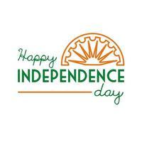 Unabhängigkeitstag Indien Feier mit Ashoka Chakra Linie Stilikone vektor
