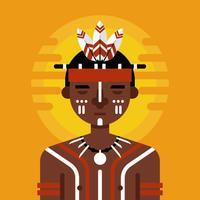 Indigener Charakter Vektor