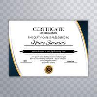 Certifikat för uppskattning mall design. Vektor illustration