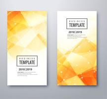 Abstrakt polygon business banner mall set design vektor