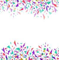 Abstrakte bunte Vektorkonfettis getrennt auf weißem Hintergrund vektor