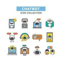 Satz von Chat-Bot-Symbolen vektor