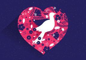 Frieden und Liebe Vektor