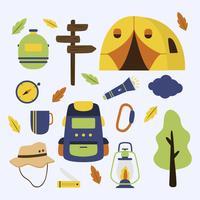 Camping Element Sammlung Vektor