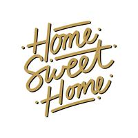 Home Sweet Home Schriftzug Vektor