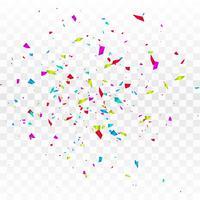 Abstrakter bunter Confetti lokalisiert auf transparentem Hintergrund vektor