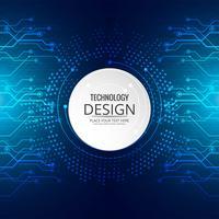 Högteknologisk teknik blå bakgrund kretskort vektor illustrera
