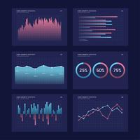 Charts UI-Kits-Konzept vektor