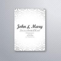 Vacker dekorativ bröllopskort mall design illustration