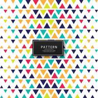 Vacker färgstarka triangelmönster bakgrund vektor
