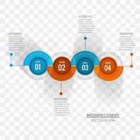 Moderner infographic Hintergrundvektor vektor