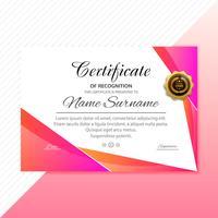 Certifikat färgstark mall färgstark våg design vektor