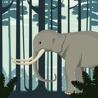 großer starker Elefant in der wilden Naturszene des Dschungels vektor