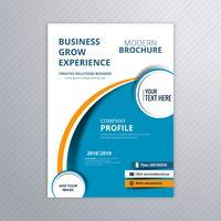 Abstrakt affärsmall broschyr med vågdesign vektor