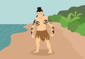 Einheimische Menschen Vektor-Illustration vektor