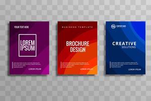 Abstrakt färgrik affärsmall broschyr mall set design vektor