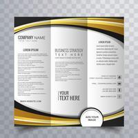 Modern trifold broschyrdesign vektor