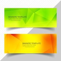 Abstrakt färgstarka polygon banners set mall design vektor