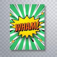 Broschüren-Schablone der schönen Pop-Art bunte Comic-Buch-Satz vect