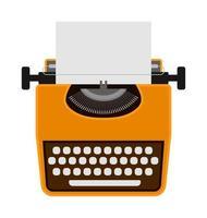 Vintage Schreibmaschine Symbol vektor