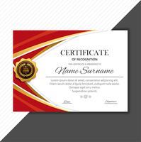 Modernt vackert diplom certifikat mall med våg vektor d