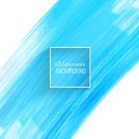 Vacker blå akvarellslag bakgrund