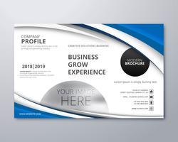 Business broschyr mall design våg vektor