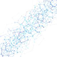 Strukturmolekyl och kommunikationsteknologi vektor backgroun
