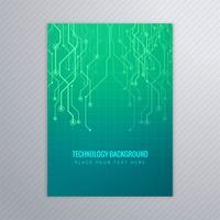 Abstraktes Technologie-Broschürenschablonen-Vektordesign vektor
