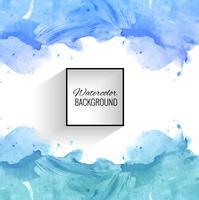 Abstrakter blauer Spritzenaquarellhintergrund vektor
