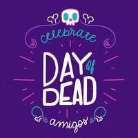 Netter und bunter Tag der toten Beschriftung vektor
